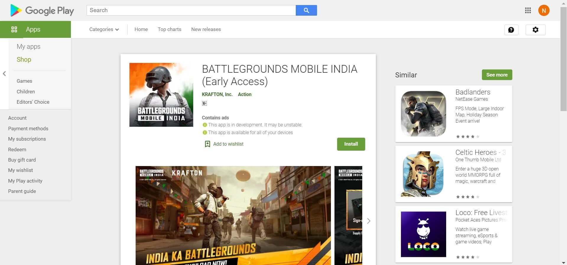 Battlegrounds-install